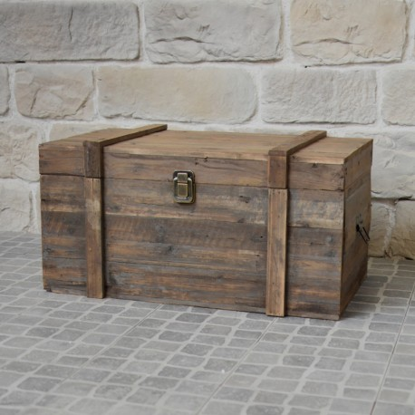 coffre malle bois ancien campagne brocante recycl provins. Black Bedroom Furniture Sets. Home Design Ideas