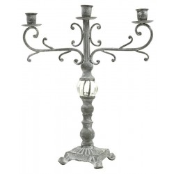 Bougeoir Chandelier en Fer et Fonte de Table