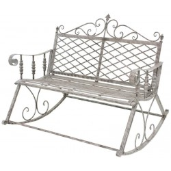 Grand Banc Fauteuil Rocking Chair en Fer de Jardin 117 cm