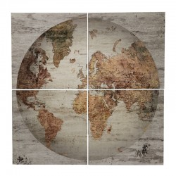 Grand Tableau Mappemonde Impression 120 cm x 80 cm