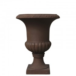 Pot Vasque Vase Médicis Fibre de Ciment Marron ø30 cm