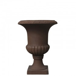 Pot Vasque Vase Médicis Fibre de Ciment Marron 39 cm