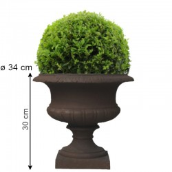 Grande Grosse Coupe Pot Vasque Médicis Fibre de Ciment Marron ø48 cm