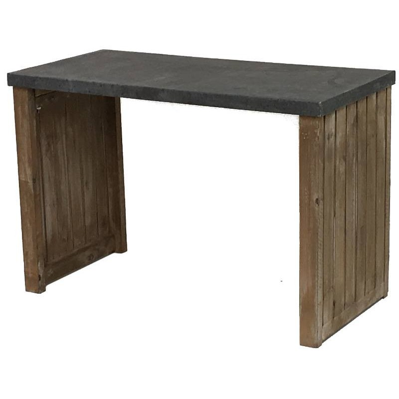 table bois plateau zinc great table manger en bois. Black Bedroom Furniture Sets. Home Design Ideas