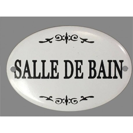 Plaque porte fer style maill salle de bain d coration murale for Plaque de porte decorative