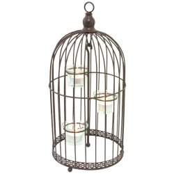 Bougeoir Chandelier en Cage 38 cm
