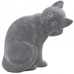 Statue Sculpture Chat en Ciment 20 cm