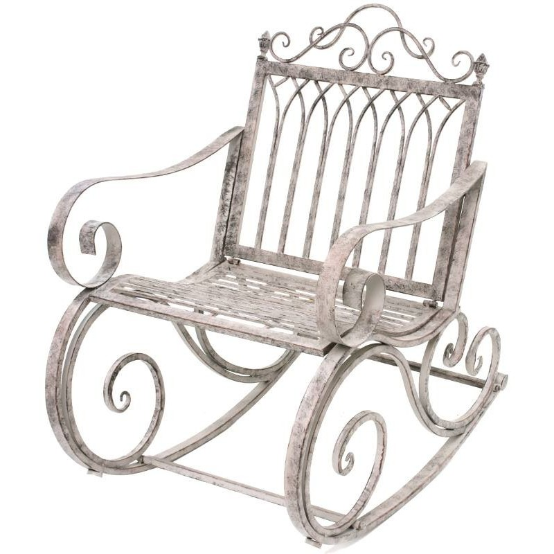 Banc fauteil rocking chair m tal fer jardin magasin for Jardin 95