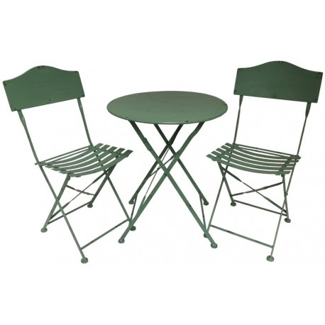 Salon De Jardin Bistrot Chaise Table En Fer Pliable