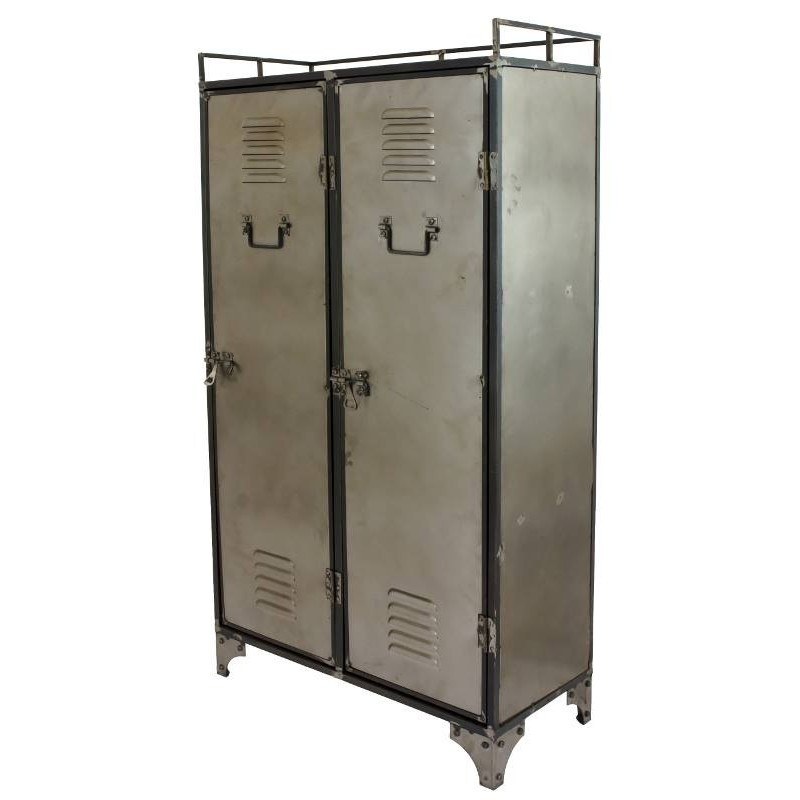 Armoire bahut buffet biblioth que meuble industriel fer metal - Buffet en fer industriel ...