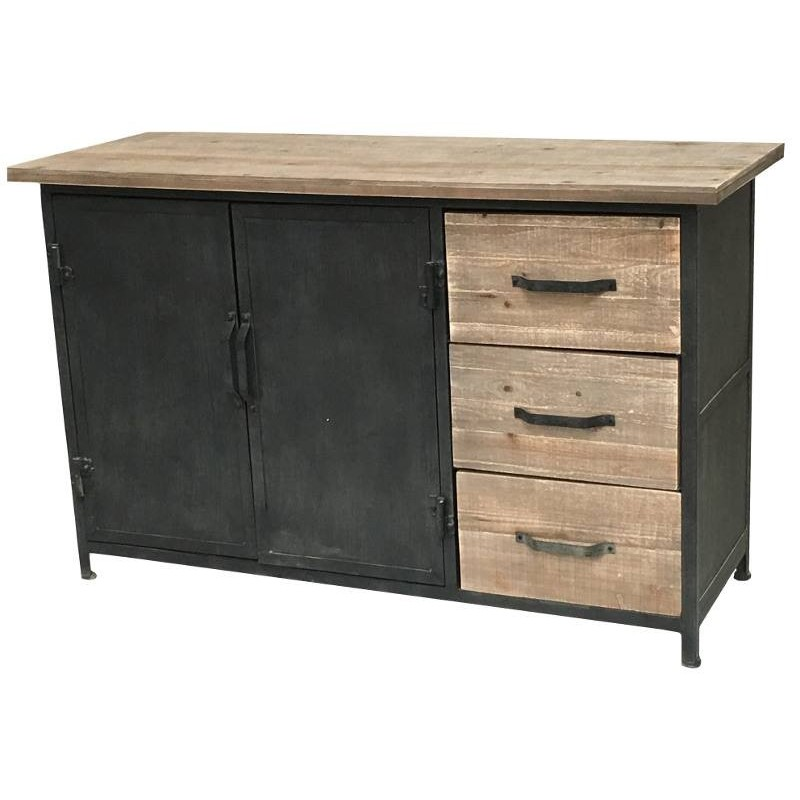 Enfilade bahut buffet console meuble m tier atelir for Meuble tv style atelier