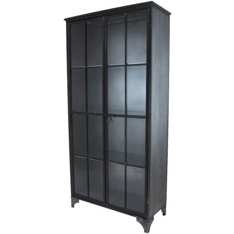 bahut buffet armoire vitr e biblioth que meuble industriel provins. Black Bedroom Furniture Sets. Home Design Ideas