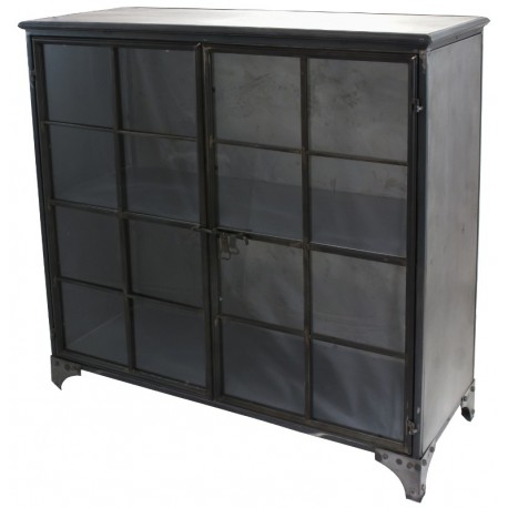 meuble bahut buffet biblioth que industriel m tal fer. Black Bedroom Furniture Sets. Home Design Ideas