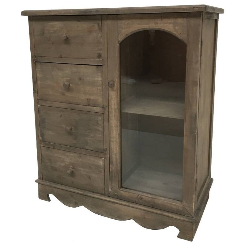 Meuble bahut confiturier buffet vaisselier commode bois for Meuble bois commode