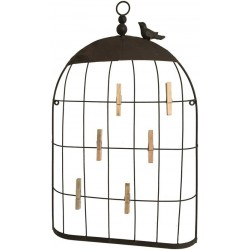 Applique Cadre Cage Grillage Porte-Photo Album Mural en Fer 55 cm