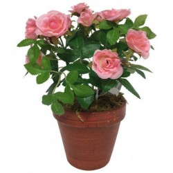 Grand Rosier Artificiel Rose 23 cm