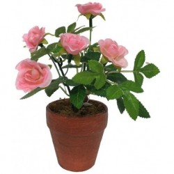 Rosier Artificiel Rose 17 cm