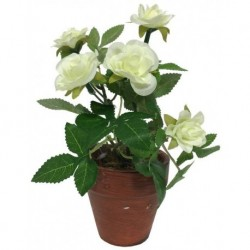 Rosier Artificiel Blanc 17 cm