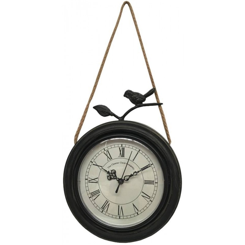 style ancienne horloge murale en mtal fer rond oiseau cm loading zoom with grosse horloge murale. Black Bedroom Furniture Sets. Home Design Ideas