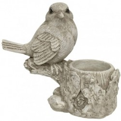 Bougeoir Photophore de Table Oiseau 12 cm