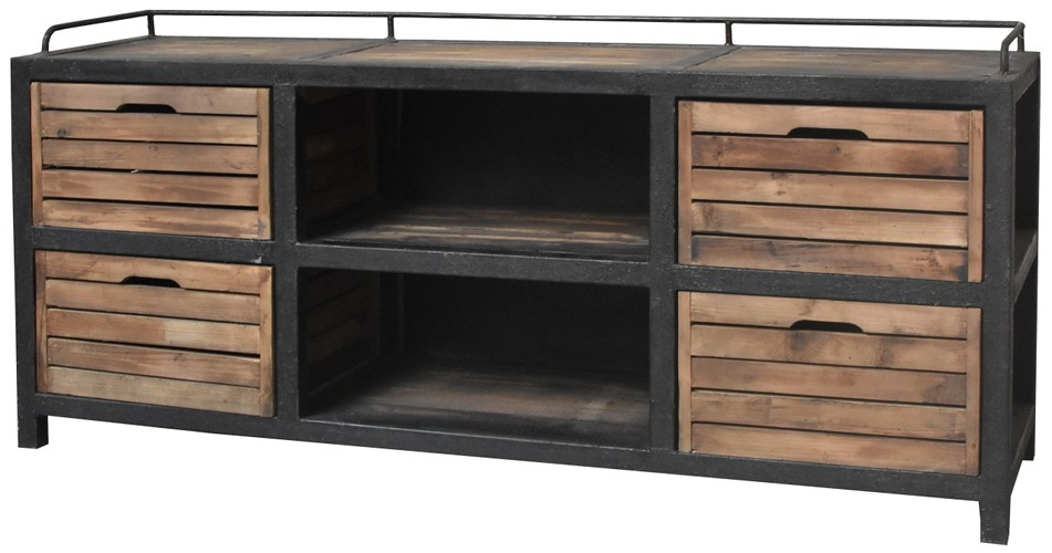 meuble tv casier industriel interesting meuble tv scandinave industriel with meuble tv casier. Black Bedroom Furniture Sets. Home Design Ideas
