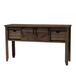 Console table drapier tiroirs et porte coulissante for Porte coulissante salon 140 cm