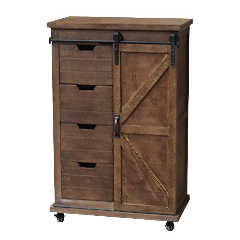 meuble industriel enfilade buffet meuble roulettes 104 cm chemin de campagne. Black Bedroom Furniture Sets. Home Design Ideas