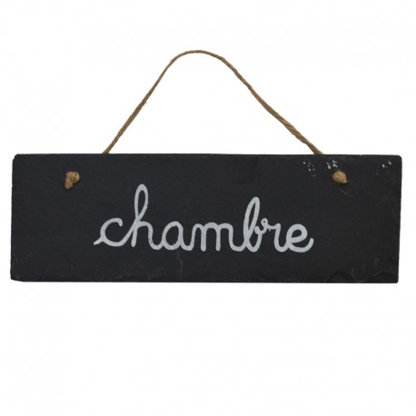 grande plaque de porte chambre ardoise 30x10 cm. Black Bedroom Furniture Sets. Home Design Ideas