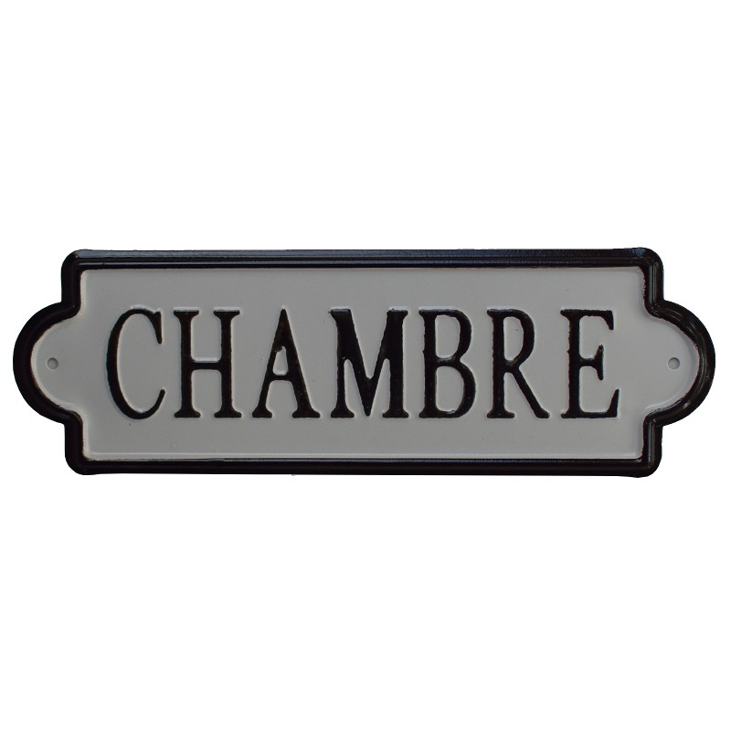 grande plaque de porte chambre fer m tal. Black Bedroom Furniture Sets. Home Design Ideas