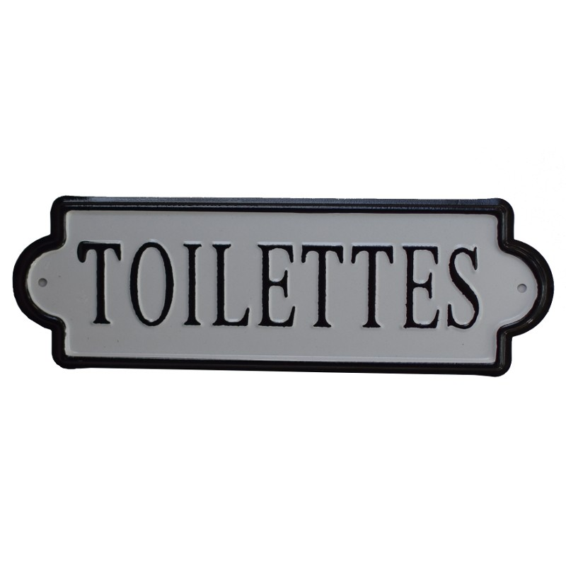 grande plaque de porte toilette fer m tal. Black Bedroom Furniture Sets. Home Design Ideas